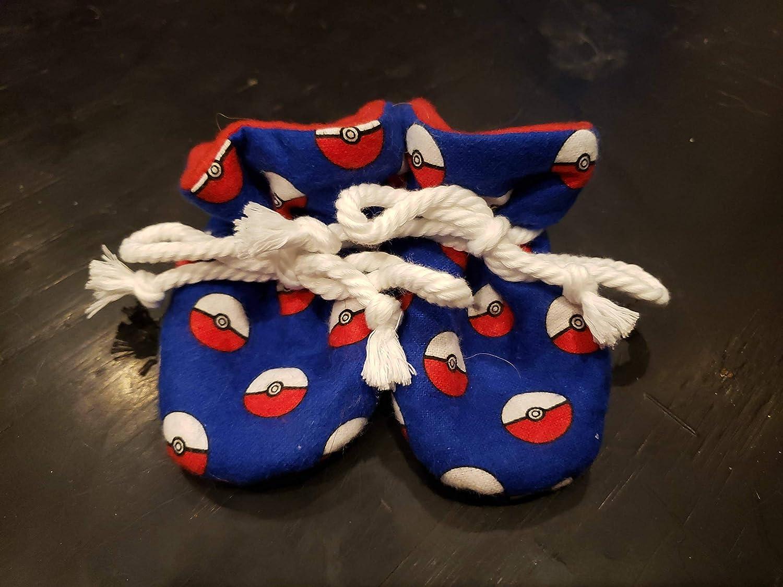 8434cf6fb7858 Amazon.com: Poke Ball TV Booties Infant Swaddle Changing Set: Handmade