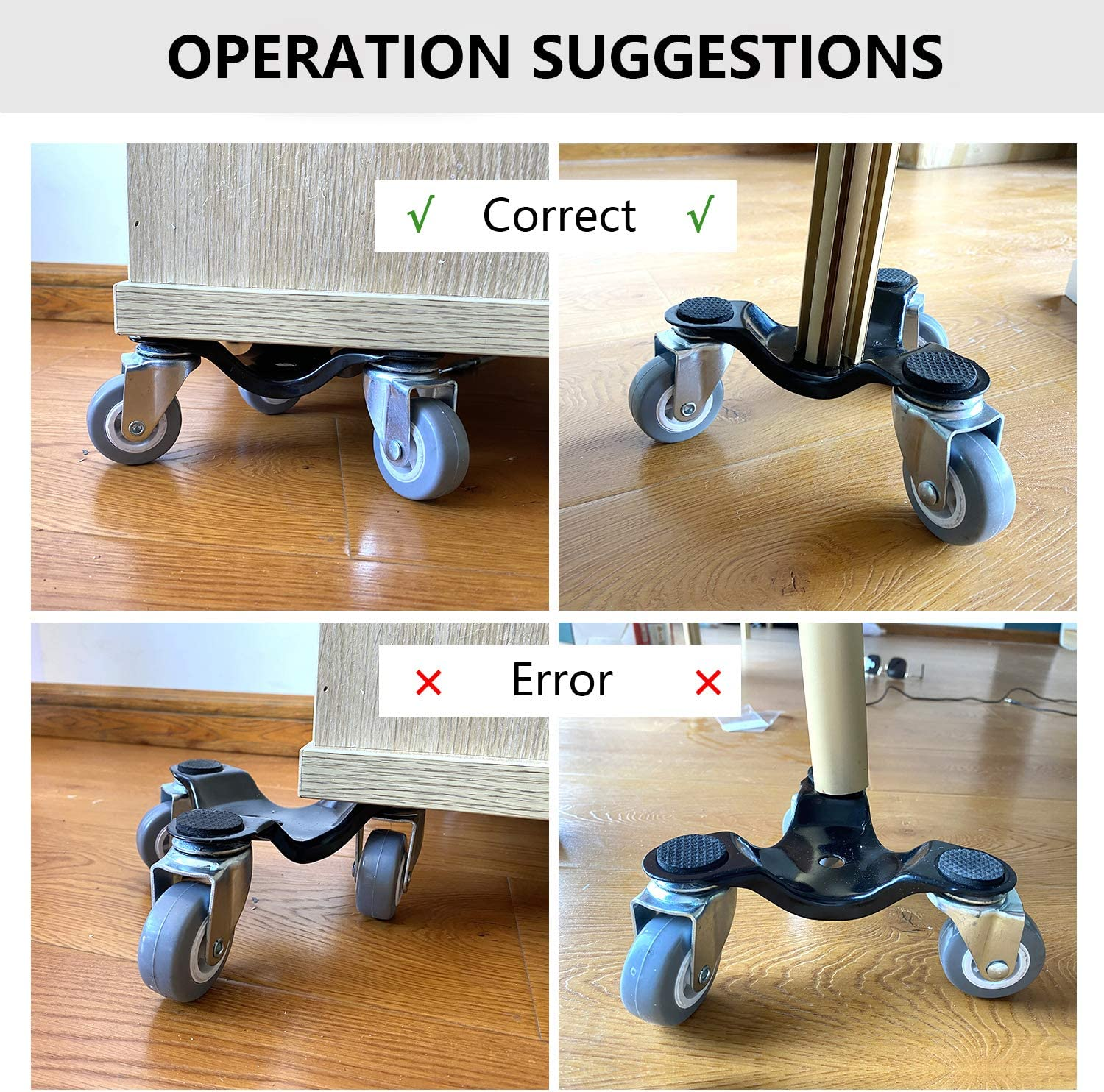 and Cabinets Furniture Mover Dolly with Lifter Refrigerators 3 Wheels Movers for Table Set of 5 Pack (Black) 6-Inch Steel Tri-Doll with a Load Capacity of 500Lbs Beds