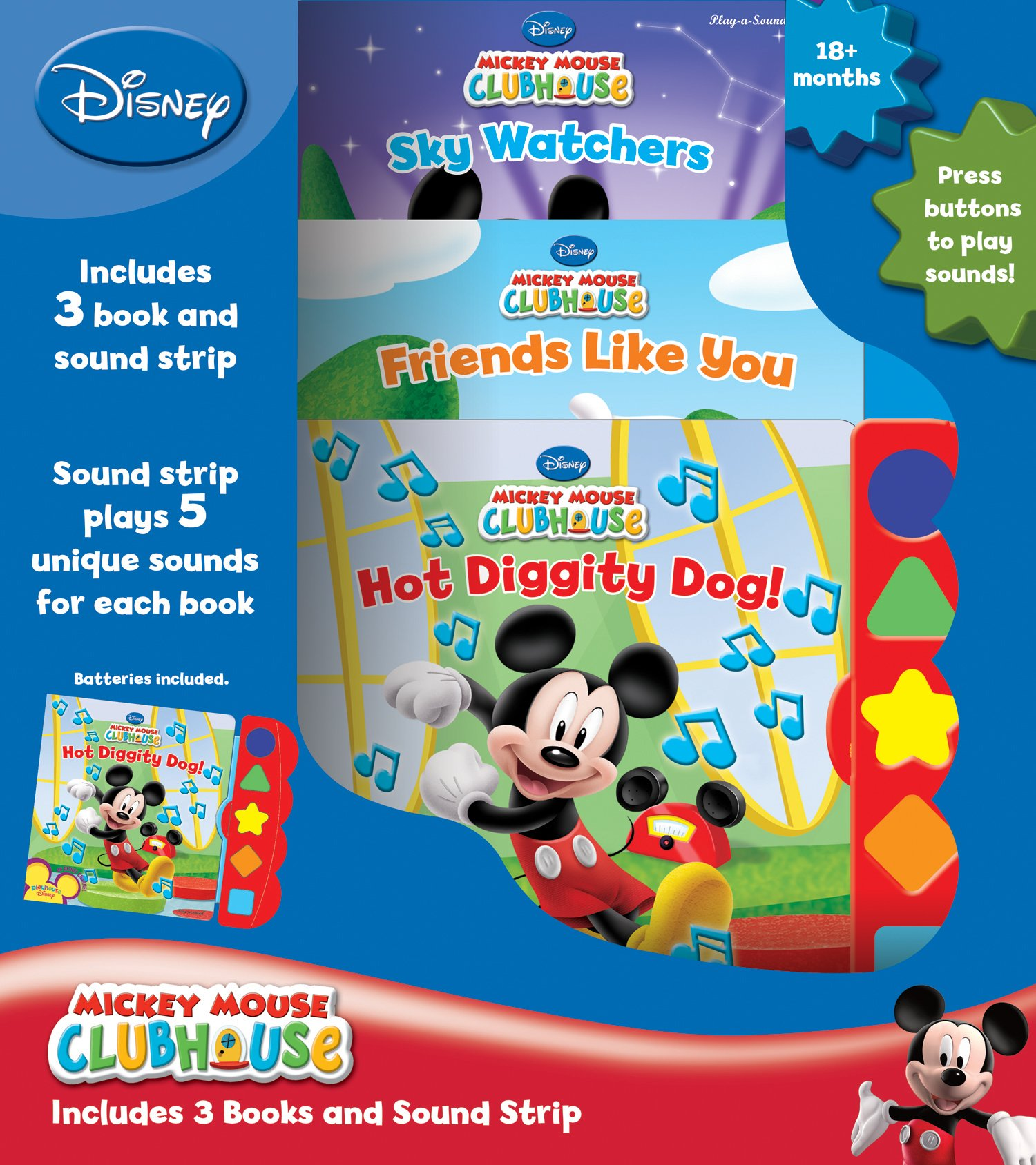Download Mickey Mouse Clubhouse 3-Book Play-a-Sound Set pdf