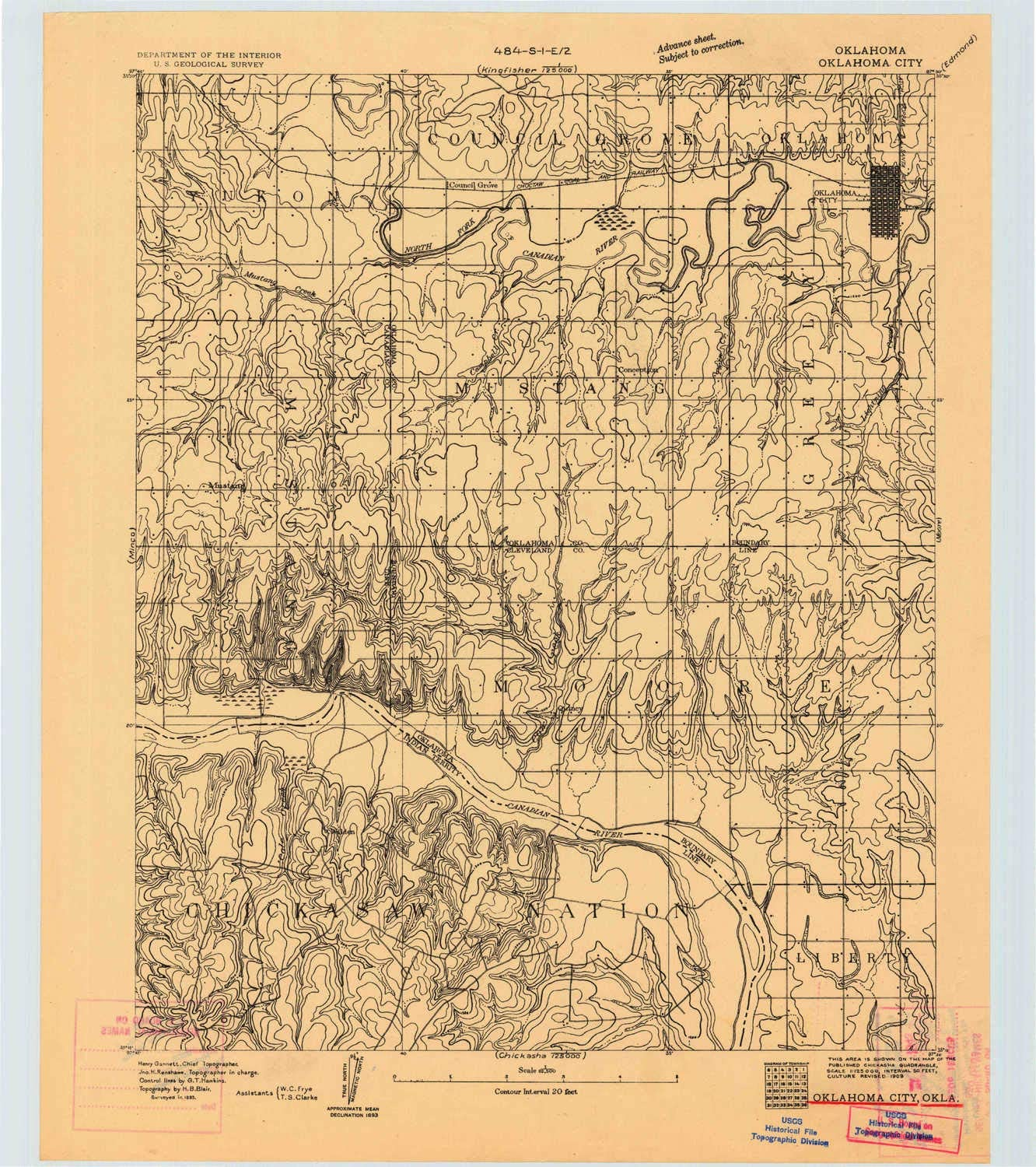 amazon com yellowmaps oklahoma city ok topo map 1 62500 scale 15 x 15 minute historical 1893 20 9 x 18 6 in paper sports outdoors yellowmaps oklahoma city ok topo map 1 62500 scale 15 x 15 minute historical 1893 20 9 x 18 6 in