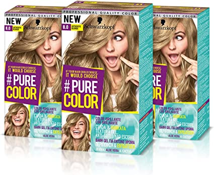 Schwarzkopf Pure Color Tinte Permanente 8.0 Authentic Blond ...