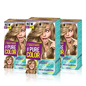 Schwarzkopf Pure Color Dauerhafte Gel Haarfarbe Nr 80 Authentic