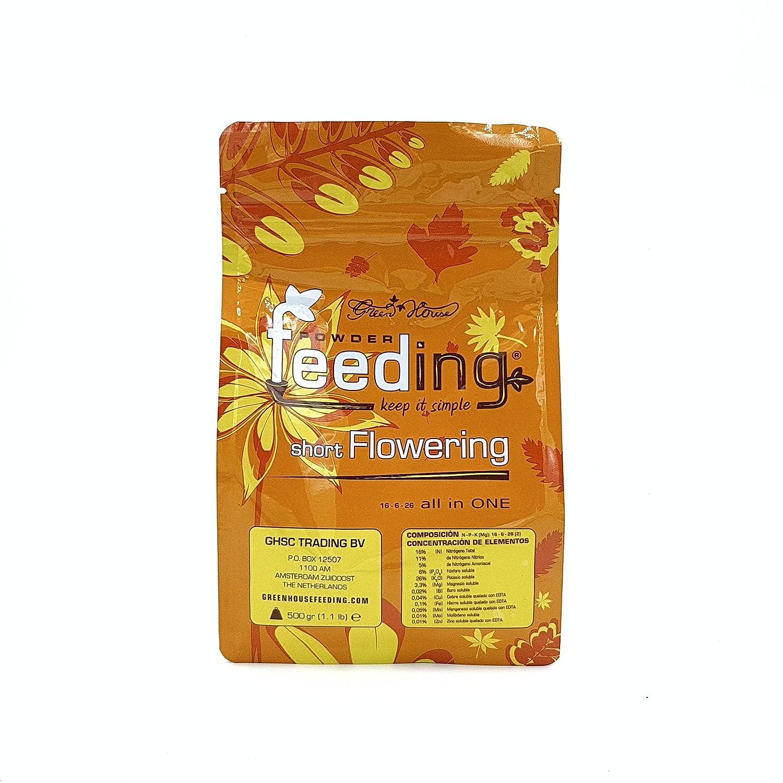 GreenHouse Fertilizante en polvo nutritivo Indica corto floración, nutrientes hidropónicos 500 g: Amazon.es: Jardín