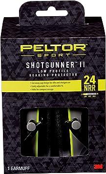 Peltor Sport Shotgunner II Low-Profile Hearing Protector, Black, NRR 24 dB
