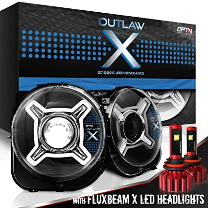 Amazon Com Opt7 Outlaw X Jeep Renegade Drl Led Headlights Projector