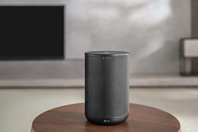LG WK7.DESPLLK Haut-Parleur Hi-Res avec Assistant Google Wi-FI Bluetooth Chromecast int/égr/é Technologie Meridian