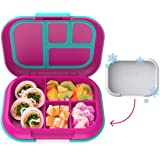 Bentgo Kids Chill Lunch Box - Bento-Style Lunch Solution with 4 Compartments and Removable Ice Pack for Meals and Snacks On-t