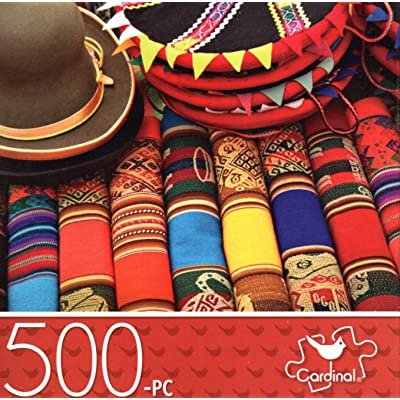 Market in Peru - 500 Piece Jigsaw Puzzle: Toys & Games