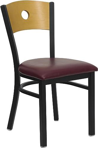 Flash Furniture HERCULES Series Black Circle Back Metal Restaurant Chair