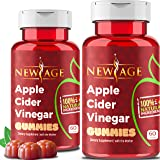(2-Pack) Apple Cider Vinegar Gummies by New Age - Amazing Taste with Raw, Organic, Unfiltered Mother ACV - Vegan & Non-GMO Gummy. Weight Control Detox Cleanse Support. Made in USA.