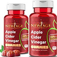 (2-Pack) Apple Cider Vinegar Gummies by New Age - Amazing Taste with Raw, Organic...