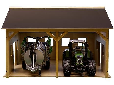 Kids Globe - Juego de construcción de cobertizo de granja en miniatura (escala 1: