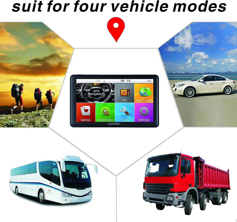 GUKONIC 7 GPS Navigation Bluetooth Gratis De Mapa de Europa Actualizar Toda La Vida Camara