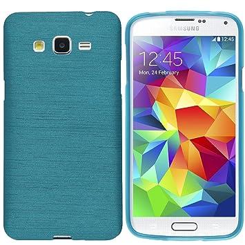 elecdorith TPU Suave Case Brushed Silicona Carcasa para Samsung Galaxy Grand Prime G530 , Samsung Galaxy Grand Prime Funda , Azul