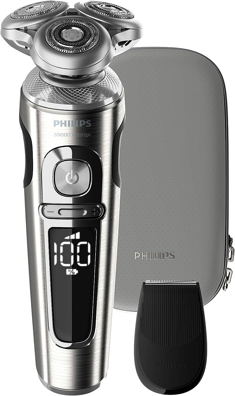Philips SP9820/18 - Rasoio elettrico a umido e a secco, serie 9000 Prestige, con lame di precisione Nano-Tech, batteria, 2018