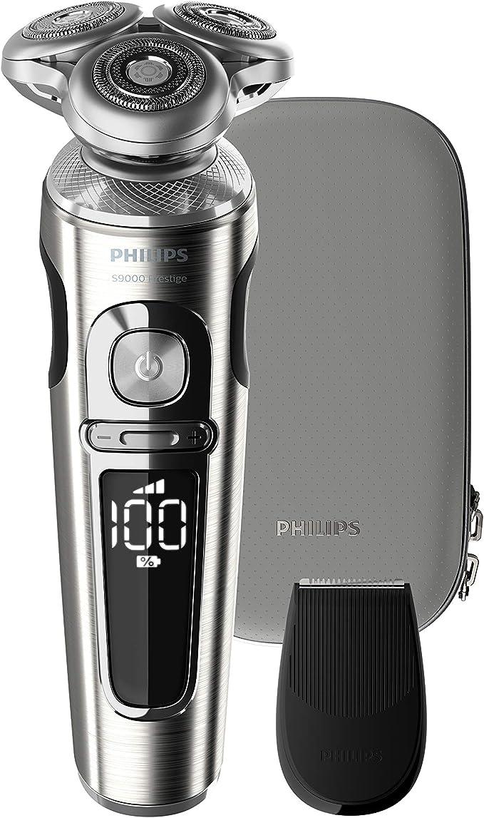 Philips SHAVER Series 9000 Serie 9000 de - Afeitadora (Máquina de afeitar de rotación, Botones, Negro, Batería, Ión de litio, Batería integrada): Amazon.es: Salud y cuidado personal