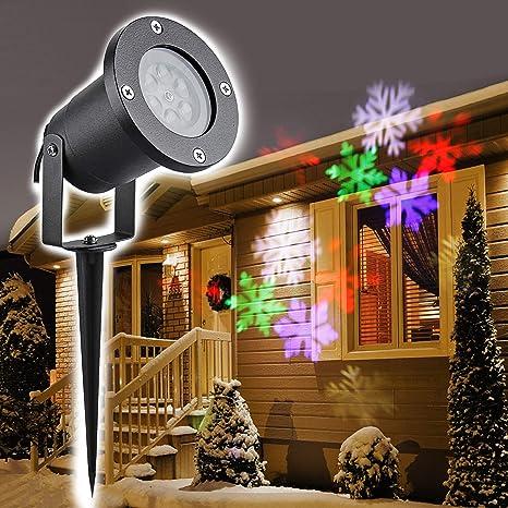 Proiettore Luci Di Natale Amazon.Topwill Natale Proiettore Luci Natale La Luce Led Per La Lampada Di Proiezione Esterno Impermeabile Ip65 Spotlight Natale Rgb Fiocco Di Neve