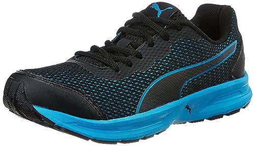 fb7a511d4d5e Puma Men s Heritage Idp Puma Black and Blue Danube Running Shoes - 6  UK India