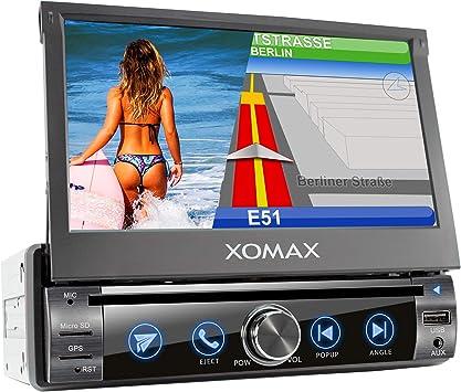 XOMAX XM-DN763 Radio de Coche con Navegador GPS I Mapas de Europa I Bluetooth Manos