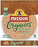 Mission Organics Whole Wheat Tortillas, Non GMO, Trans Fat Free, Medium Soft Taco Size, 6 Count