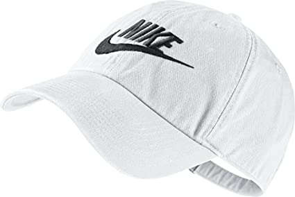 Nike Futura Washed H86 Red Gorra, Hombre, Blanco/Negro, Talla Única