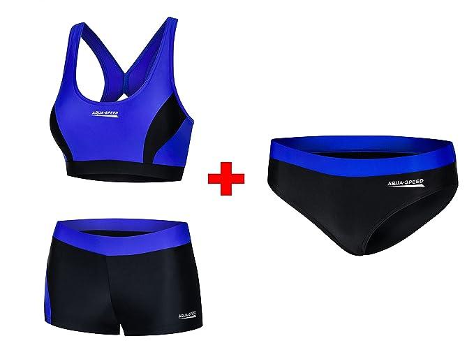 59ac899b5782 Aqua Speed® Fiona Set - Tankini + Slip da Bikini | Tessuto Vita | Resistente