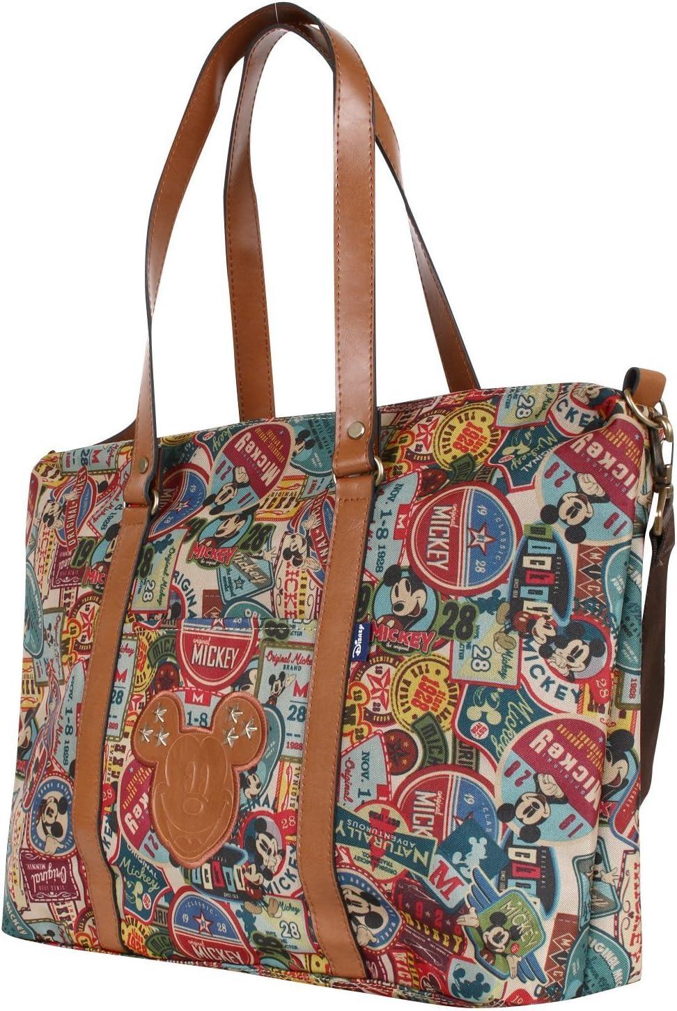 Disney Vintage Mickey Pattern All Purpose Shoulder Bag Large Shopper Handbag bag-058-1