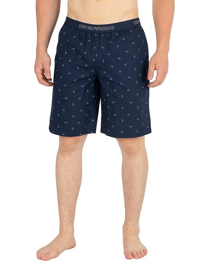 Emporio Armani Hombre Bermuda Shorts de Pijama, Azul: Amazon.es: Ropa y accesorios