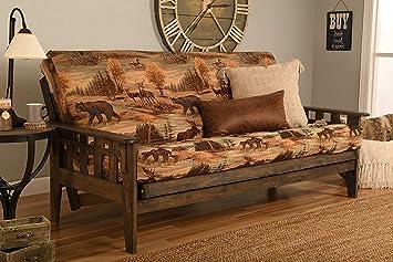 Kodiak Furniture KF Tucson Full Size Futon Frame, Rustic Walnut