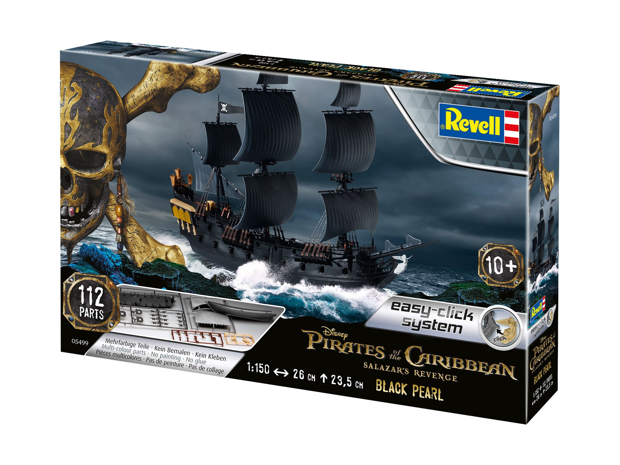 Revell 05499 - Pirates of The Caribbean - The Black Pearl 1:150 Scale