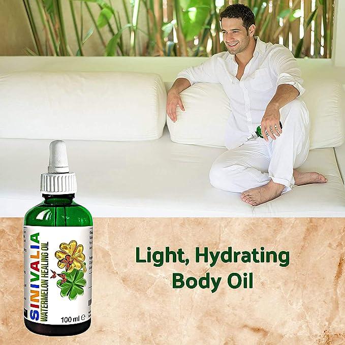 SINIVALIA Aceite de Sandía - Hidratante Facial, Corporal, Cabello - Crema para la Piel Seca o Grasa - Aceite de Bebe Suave - Aceite de Masaje Antiarrugas ...