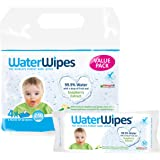 WaterWipes Baby Wipes Gentle All Over Cleansing Wipes with Soapberry, 4 Packs x 60 Wipes (240 Wipes)