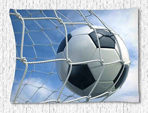 CELYCASY Red de portería de fútbol, diseño de pelota de fútbol ...