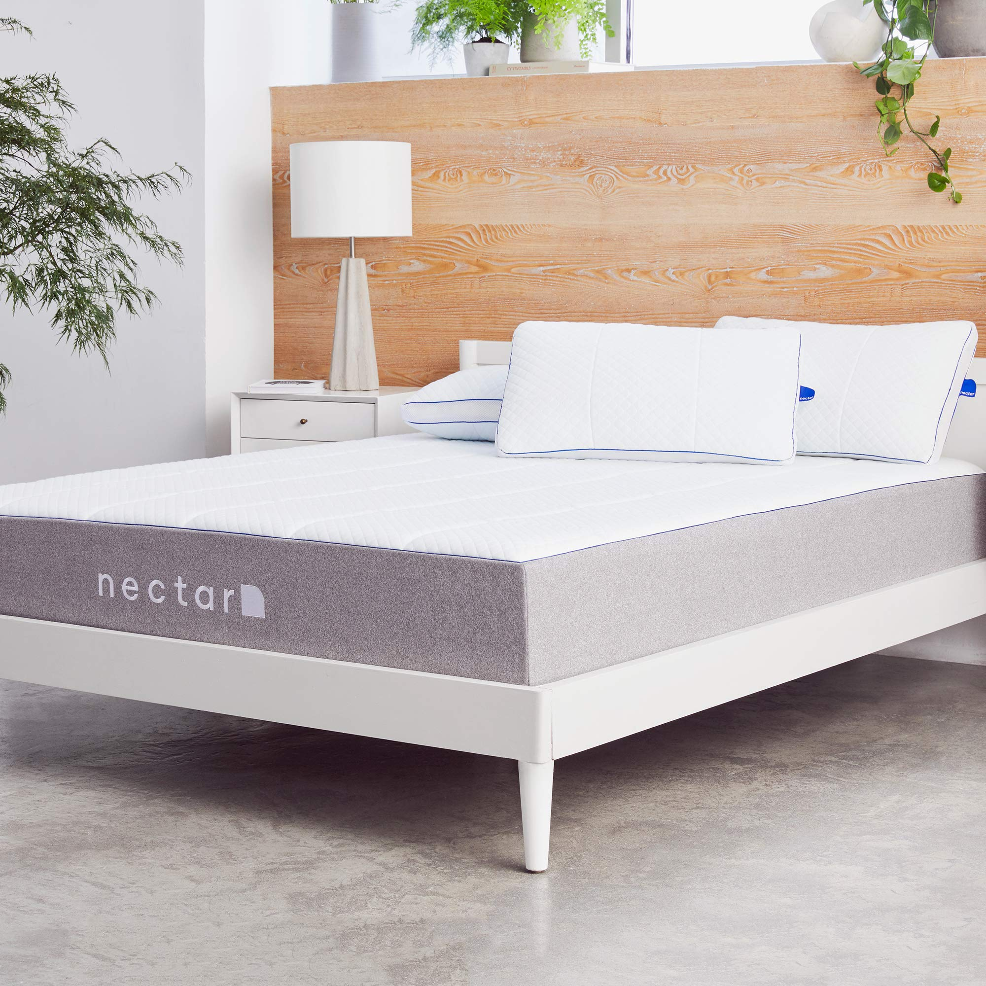 Nectar King Mattress + 2 Pillows Included - Gel Memory Foam - CertiPUR-US Certified Foams - 180 Night Home Trial - Forever Warranty by Nectar