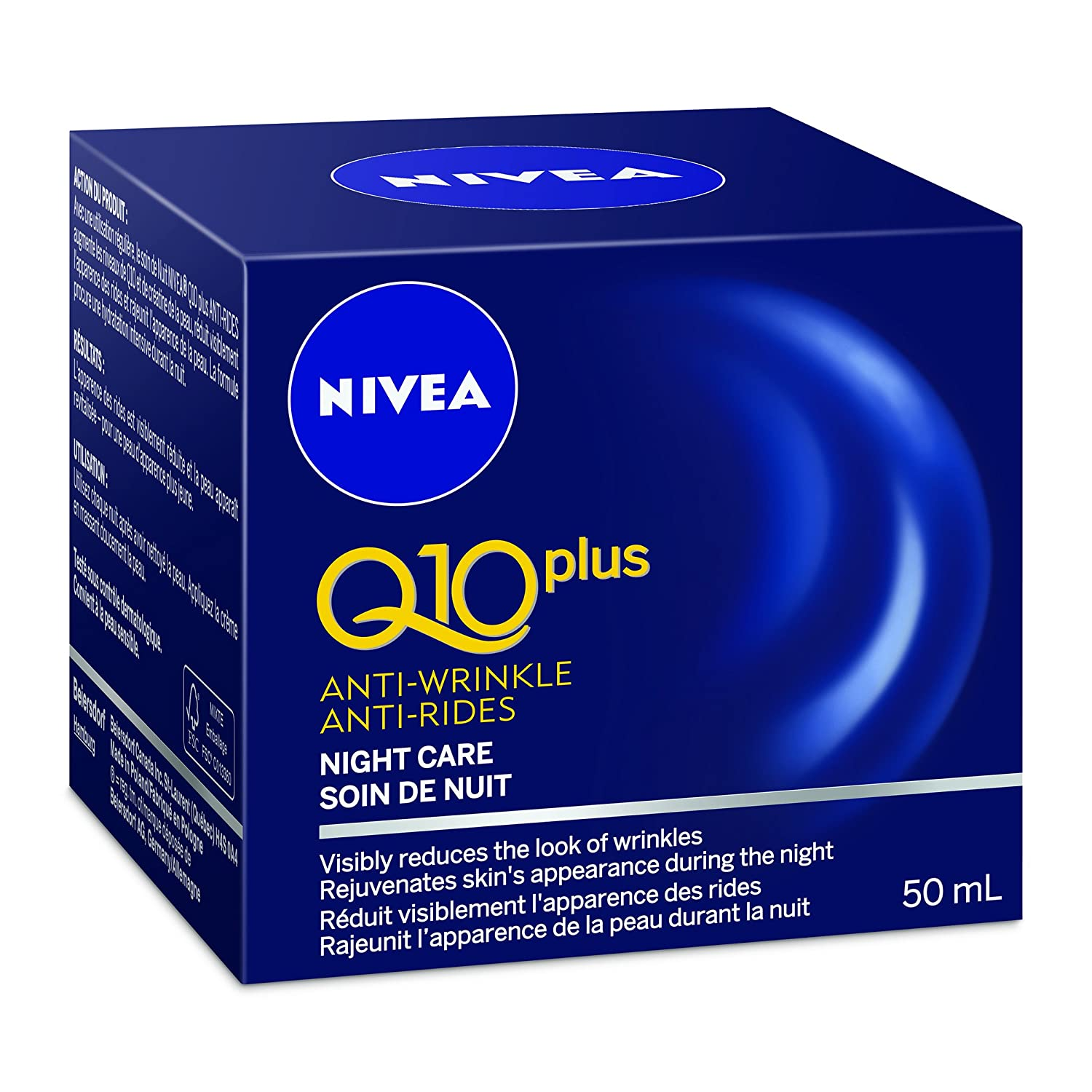 NIVEA Q10 plus Anti-Wrinkle Night Care 50ml Chom 056594101692