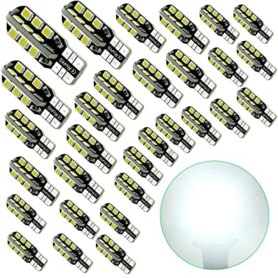 Debonauto-30 x T15 LED Light Bulb Super Bright 6000k 12v T10 921 168 194 Trailer,Boat,RV,Iandscaping & Camper Interior Wedge 24-SMD(Pure White): Home Improvement
