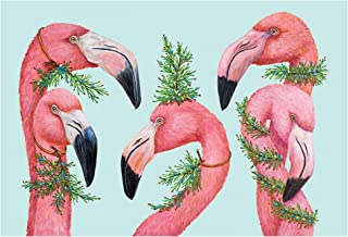 product image for Hester and Cook Paper Placemats for Dining Table - Disposable Square Paper Placemats for Summer Parties - Vicki Sawyer Designed - Flamingo 24 Sheets - American Made