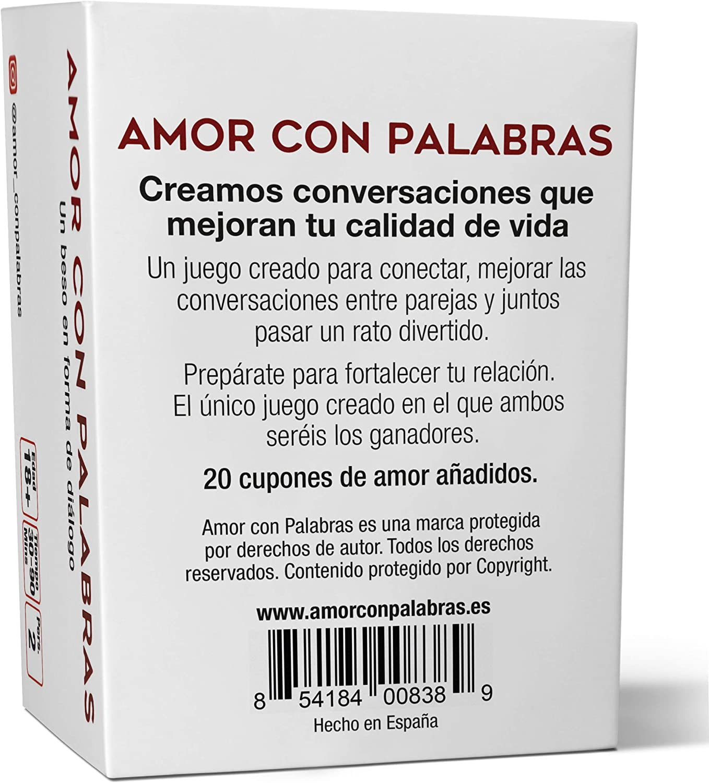 AMOR CON PALABRAS - Parejas   Juegos de Mesa para Dos Personas Que fortalecen Las relaciones convirtiéndolos en inmejorables Regalos para mi Novio o Novia: Amazon.es: Juguetes y juegos