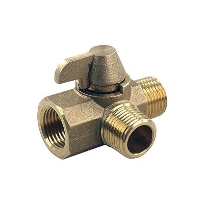 "JR Products 62245 3-Way Brass Diverter Valve - 1/2"" MPT x 1/2"" MPT x 1/2"" FPT: Automotive"