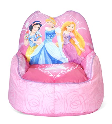 amazon com disney princess toddler bean bag sofa chair toys games