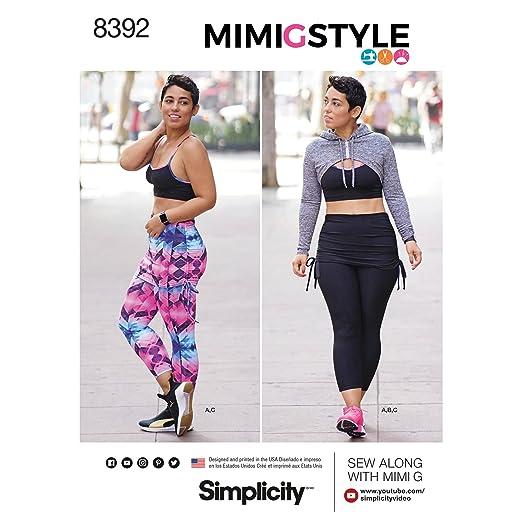 Simplicity Pattern 8392 Knit de la Mujer Sujetador Deportivo ...