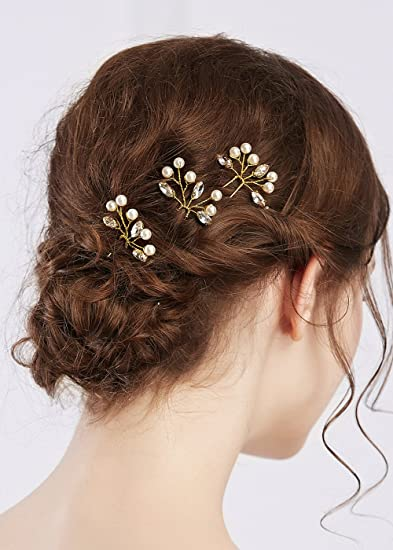Amazoncom Missgrace Bridal Simple Gold Vintage Rhinestone Hair