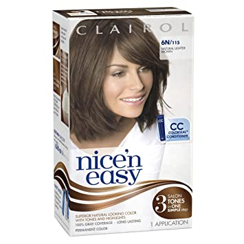 Amazon.com : Clairol Nice \'n Easy Hair Color 115, 6N Natural ...