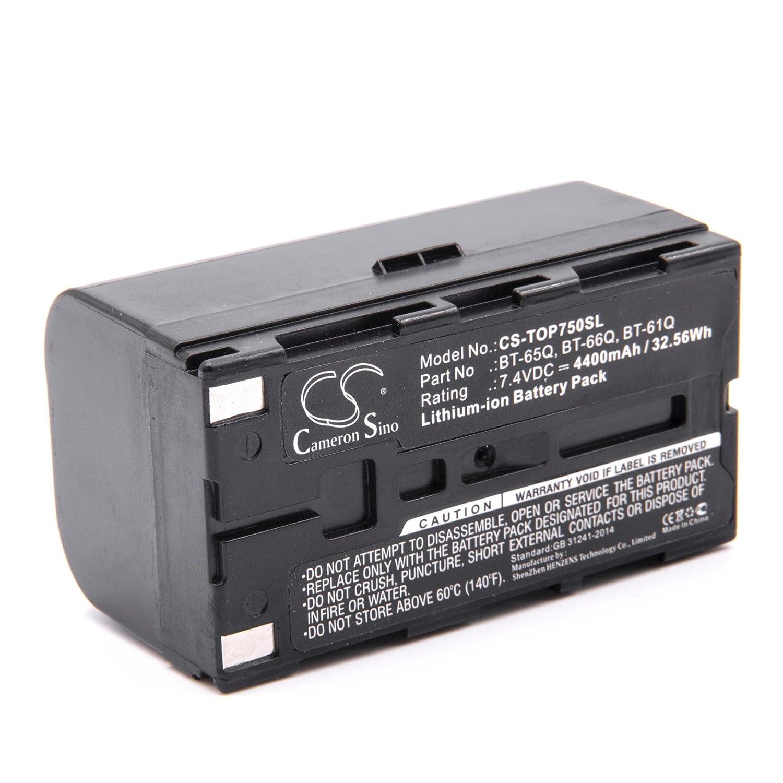 vhbw Li-Ion batería 4400mAh (7.4V) para medidor multímetro como Topcon BT-61Q