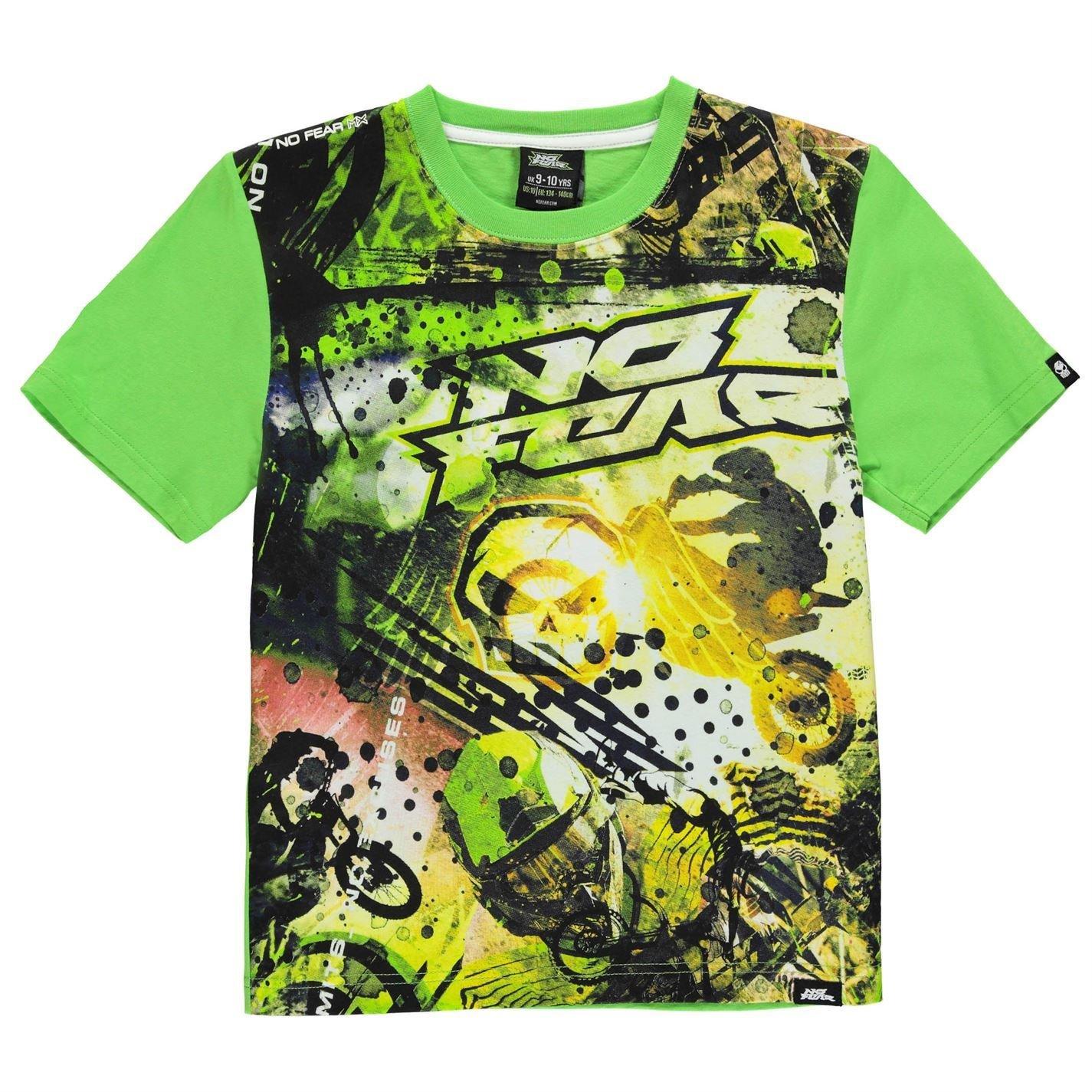 No Fear Niñ os Moto Camiseta Diseñ o Grá fico Manga Corta