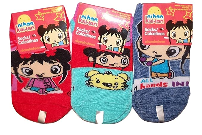 Ni Hao Kai-lan Kid 3 Sock ~ Size 4-6 Shoe 7-
