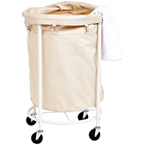 AmazonBasics Commercial Laundry Hamper with Removable Liner and Wheels