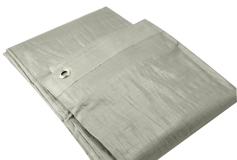 Erickson 57024 Silver Heavy Grade Poly Tarp 12 x 20 12/' x 20/'