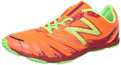New Balance Men's MXC700 Spike Running Shoe,Orange/Green,8 ...