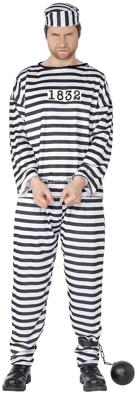 Smiffys 96318M Déguisement Homme Prisonnier, Noir/Blanc, Taille M MNB